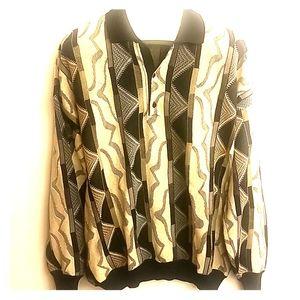 St. Croix Shop vintage collered sweater